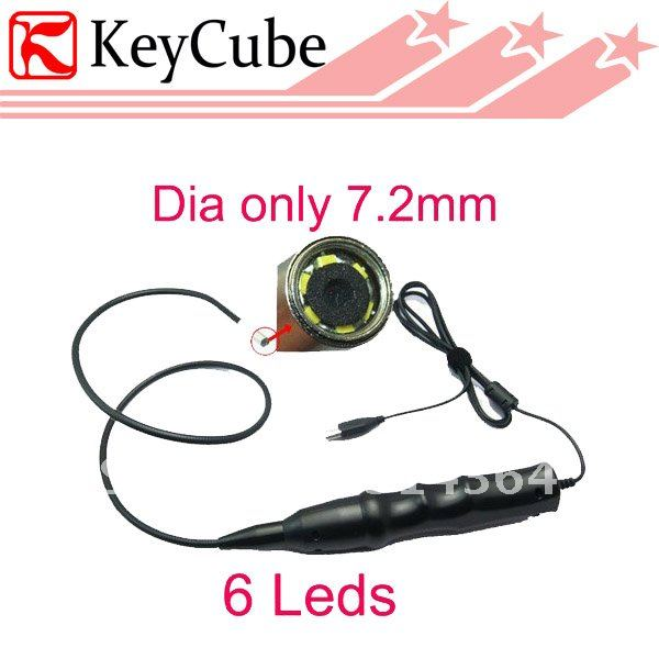 Здесь продается  7.2mm USB 6 LEDS Night Vision Mini Snake Camera/ Waterproof  Endoscope Camera  Free Shipping  Безопасность и защита