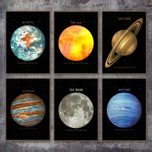Planet Space Earth moon Venus Sun Saturn Wall Art Canvas Painting Nordic Posters And Prints Pictures For Living Room Decor