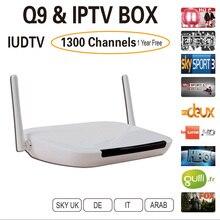 Livraison UIDTV Arabe IPTV Boîte 1300 Plus L'europe Canaux IUDTV Livraison rapide gratuite Pas mensuel payer Android 4.4 WiFi HDMI Smart TV Box