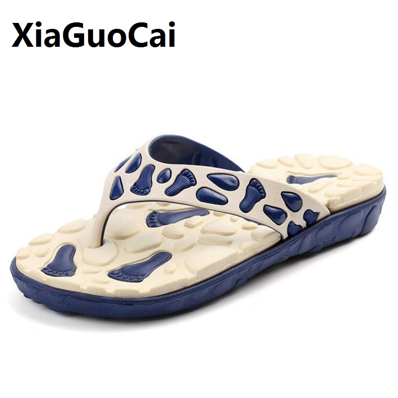 Summer Men Massage Slippers Men Non-Slip Flip Flops Male Casual Beach Shoes Comfort Slip-on Platform Sandals Man Male полотенце collorista фламинго 60x146cm 2588690