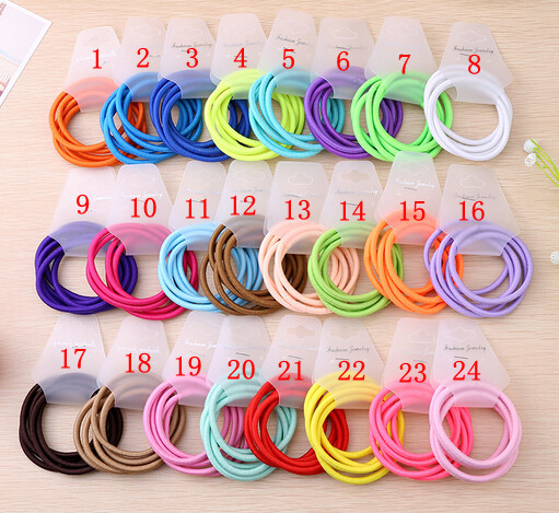 Free Shipping,2016 New Wholesale 4mm Thickness Women Girls Hair Accessaries Hair Bands Elastic Ropes Ties Ponytail Holder