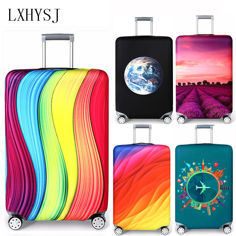 LXHYSJ Elastic Luggage Cover Luggage Protective Covers For 18-32 Inch Trolley Case Suitcase Case Dust Cover Travel Accessories