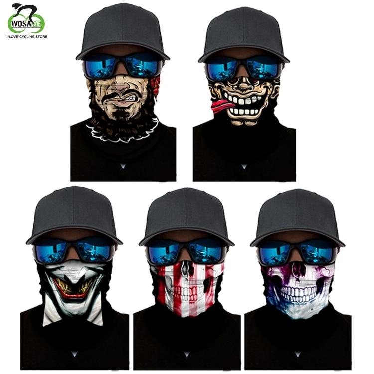 WOSAWE Cycling Face Mask Head Scarf Neck Warmer Half Mask Ski Balaclava Headband Bike Windproof Mask Accessories Bike Face