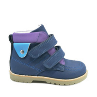 24aea972 Kids Ankle Winter Boots Boys Leather Orthopedic Footwear Fashion Boots  Children Spring Autumn Orthopedic Casual Shoes
