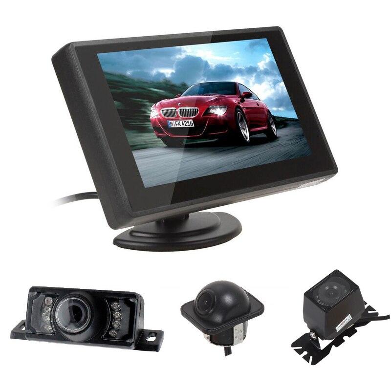 CHINAJIAHO Store E318 Night Vision Waterproof Color Car Rear View Camera Reverse Backup Camera E327 E350 - 4.3 Inch Car Rearview Monitor RVC-210