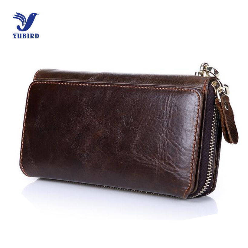 Fashion Vintage Wallet Men Luxury Brand Clutch Wallets Genuine Cowhide Leather Zipper Purse Handy Bag Long Big Wrist Wallet 2017 new cowhide genuine leather men wallets fashion purse with card holder hight quality vintage short wallet clutch wrist bag
