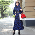 Vintage plus size 3XL 2015 Winter jacket long-sleeve cotton-padded jackets hooded thickening elegant overcoat outwear