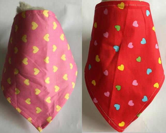 100pcs Valentine Lover Pet Bandanas Cotton Dogs Cat Bandanas Scarf Bowties Pet Supplies 2 color Y1102