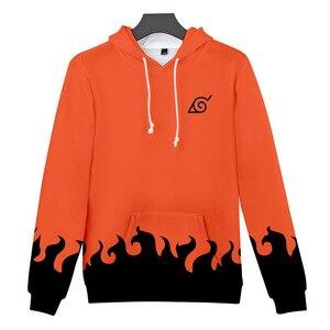 Image 3 - Sudaderas de moda de los hombres de dibujos animados Naruto Hoodies chaqueta mujer naranja negro 3D Hoodie Naruto Cosplay traje abrigo