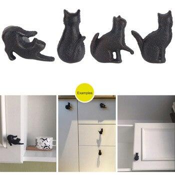 4 pièces créatif chat forme Design placard tiroir poignée bouton tirer cuisine armoire porte armoire poignées matériel