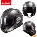 LS2 FF399 Flip up casco doble lente casco de la motocicleta volver voltereta casco
