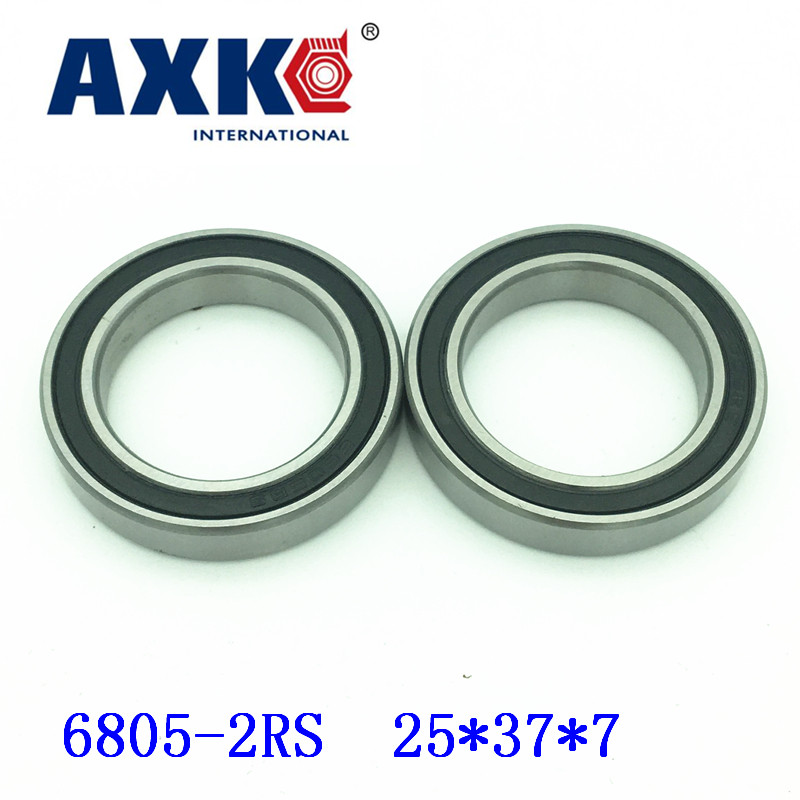 Free Shipping 10pcs <font><b>6805</b></font>-2rs 6805rs <font><b>6805</b></font> <font><b>Rs</b></font> 25 X 37 X 7mm Metric Thin Section Deep Groove Ball Bearings image