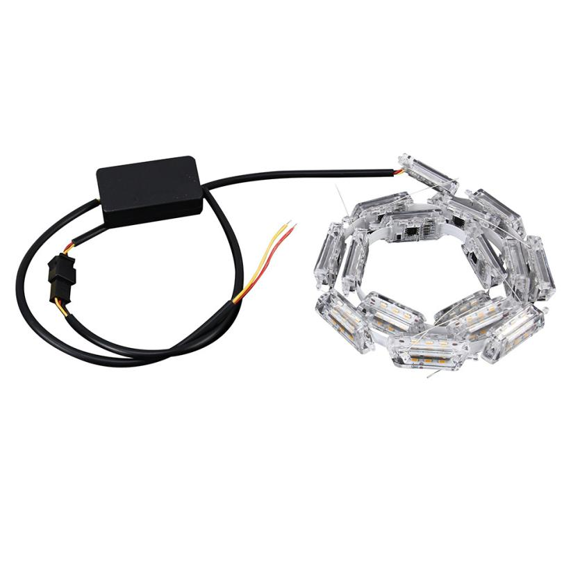 2Pcs Car Flexible Switchback LED Knight Rider Strip Light For Headlight Sequential Flasher Flowing Amber Turn Signal Light Mar26