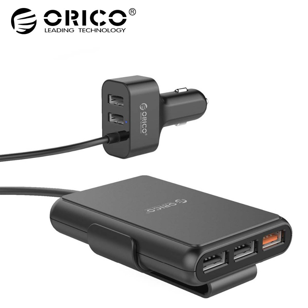 ORICO 5 Ports QC3.0 USB Car Charger Universal USB Quick Charger 52W for  iPhone 7 Samsung Xiaomi Car Phone Charger 792685a612ad8