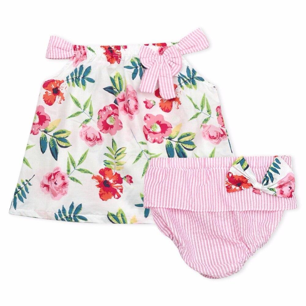 Baby Outfit Clothing Playsuit Toddler Girls Newborn Children Sleeveless Briefs