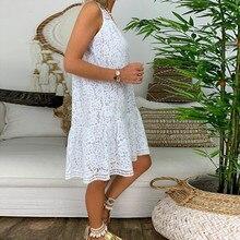 Women Summer Boho White Dress