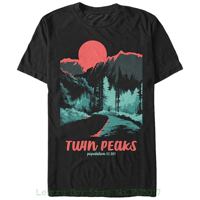T-shirt Summer Novelty Cartoon T Shirt Fifth Sun Twin Peaks Population Mens Graphic T Shirt