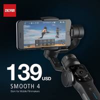 Pre Sale ZHIYUN Smooth 4 Smartphone Handheld 3 Axis Gimbal Portable Stabilizer For Smartphone IPhone Camera