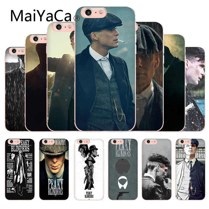 MaiYaCa Peaky Blinders Tv Cute Tommy Shelby Phone Cover For Apple iphone X And 8 8plus 7 7plus 6s 6s Plus XS XR 5c phone cover