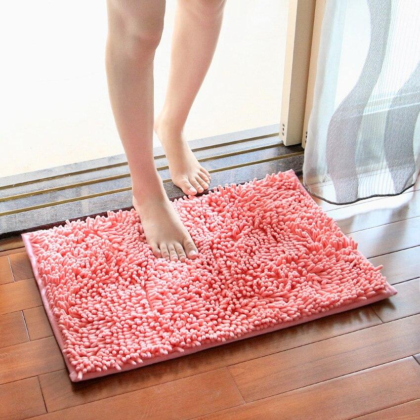 Tapis de porte antidérapant pour salle de bain tapis de cuisine tapis en tissu Chenille paillasson pour chambre tapis anti-dérapant Tapete Teppich tapis alfombra