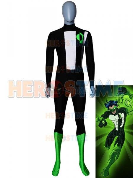 Custom Made Green Lantern Superhero Costume Spandex Printed Green Lantern Halloween Zentai Cosplay Bodysuit