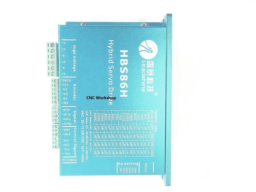 Leadshine HBS86H ES-D808 CNC DSP en Boucle Fermée Moteur pas à pas Pilote Facile Servo Drives 8A 30 ~ 100VDC Correspondant 86mm NEMA34/23 moteur