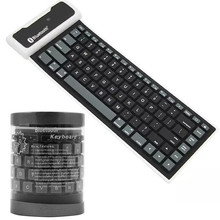 Bluetooth Wireless Waterproof Folding Silicone Keyboard For
