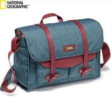 National Geographic Leather Travel Camera Bag Soft Photography Bag Shoulder Messenger Bag For Canon Nikon Digital SLR Laptop