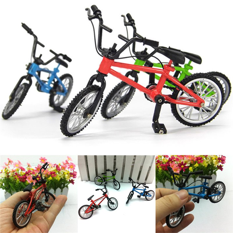 Small Bike Alloy Plastic Scale Model Miniature Diecast Bicycle Toys For Children Craft Desktop Display Home Decoration Toy