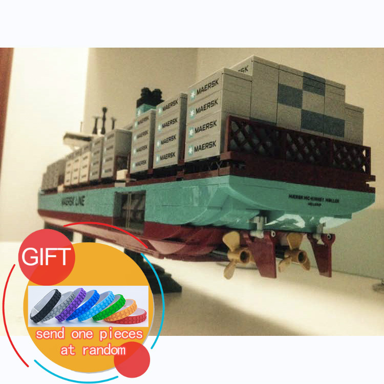 22002 1518Pcs Genuine Technic Series The Maersk Cargo Container Ship Building Compatible With 10241 toys lepin 22002 genuine technic series the maersk cargo container ship set 10241 building educational toys lepin