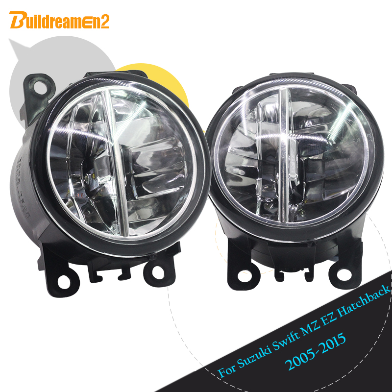 Buildreamen2 2 X Car Styling LED Fog Light DRL Daytime Running Light 12V High Bright For 2005-2015 Suzuki Swift MZ EZ Hatchback la mer collections lmmtw1001