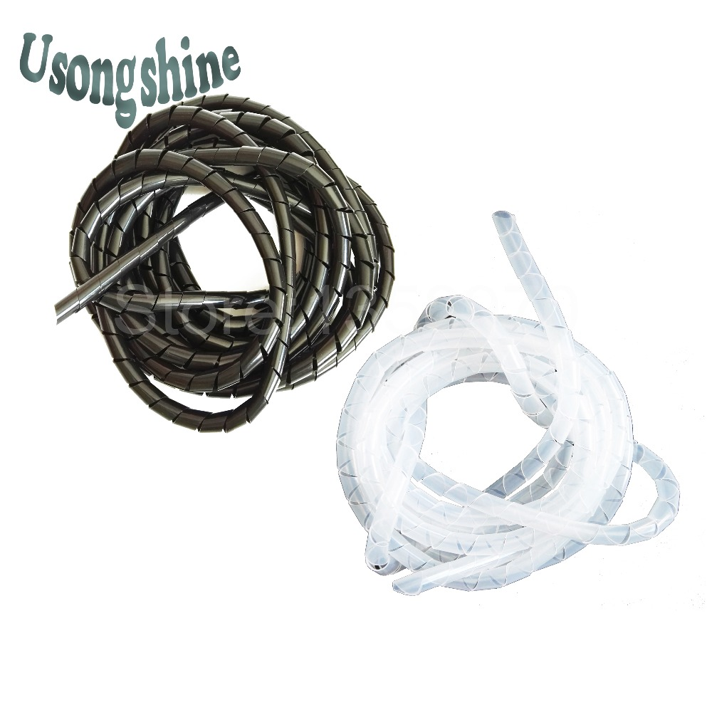 10.5meter Diameter 8mm black or white wire winding pipe coiling tube cases cover wire insulation hub spiral wrapping