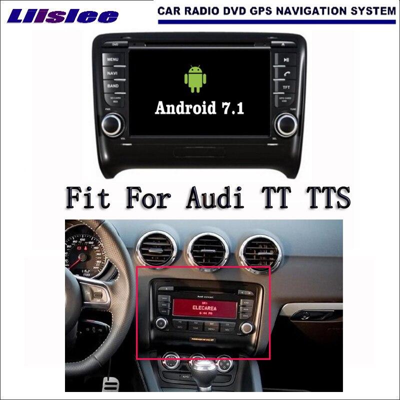 Android 7.1 2G RAM pour Audi TT TTS 2006 ~ 2012 autoradio Audio vidéo multimédia lecteur DVD WIFI DVR GPS Navigation Navi