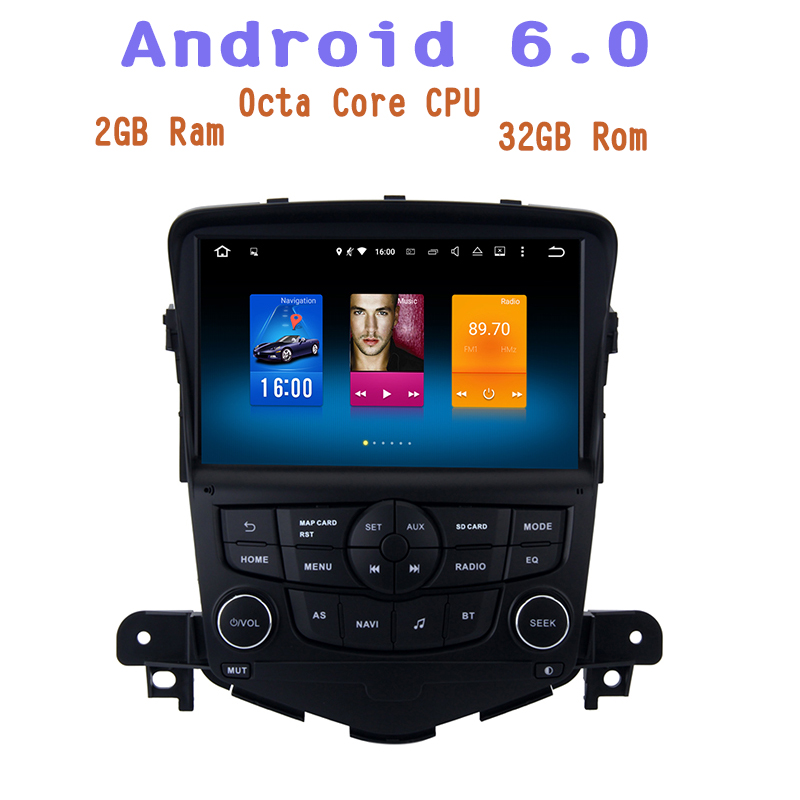 Android 6 0 Octa Core Car GPS Radio for Chevrolet Cruze 2008 2011 NO DVD with