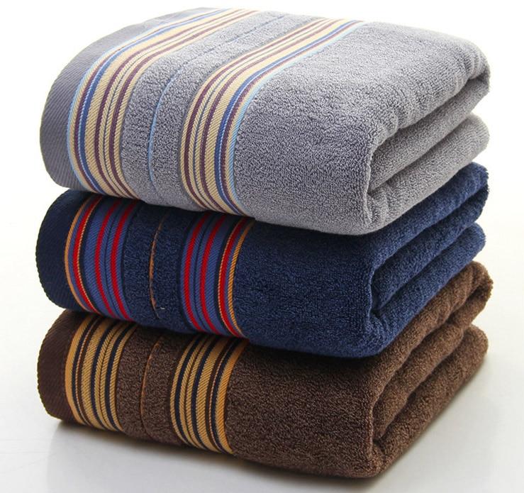 1Pc Cotton Towels Bathroom Men Beach Bath Towel Luxury Thicker 70x140cm For Adults Hotel Home Toalla