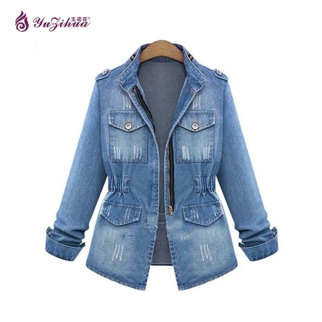 4923b1a83 5XL Jaqueta Tamanho Grande Das Mulheres Jaqueta Feminina Jaqueta Jeans  Jaqueta Jeans Mulheres Jaqueta Plus Size