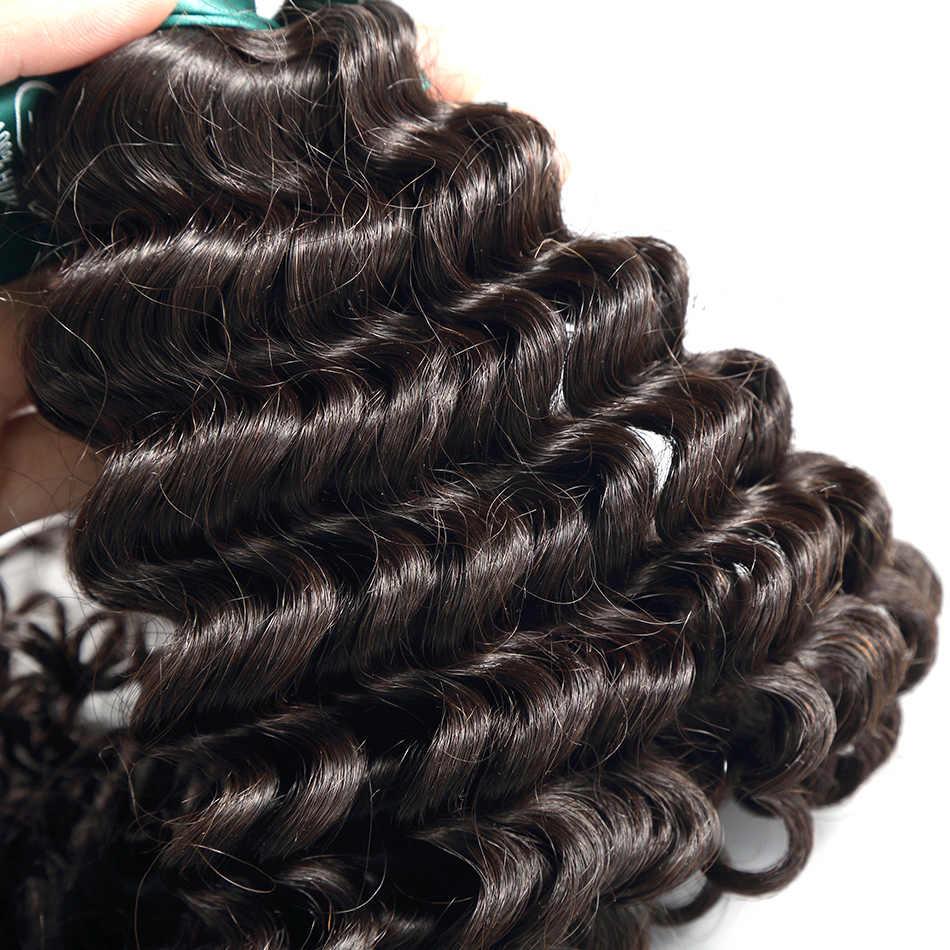 Ilaria Rambut Peru Keriting Perawan Rambut Gelombang Dalam Bundel 100% Peru Rambut Tenun Warna Alami 3 Bundel Penuh Lembut rambut