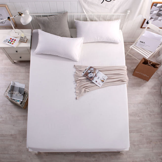Online Shop Solid Fitted Sheet With Elastic 100% Cotton Bed Sheets Twin  Queen King Size Bed Linen Sheets Children Adult Mattress Cover   Aliexpress  Mobile