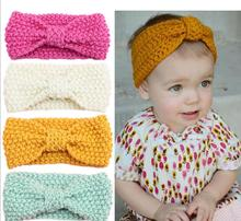 Elastic Kids knot Crochet Turban Headband Hair Accessories Cotton Wrap Newborns Hair Head Kids Hair Accessories EASOV W256