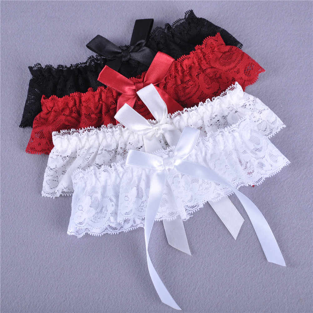 Sexy Women Girls Lace Floral Bowknot Wedding Party Bridal Lingerie Cos Leg Garter Belt Suspender 1pcs