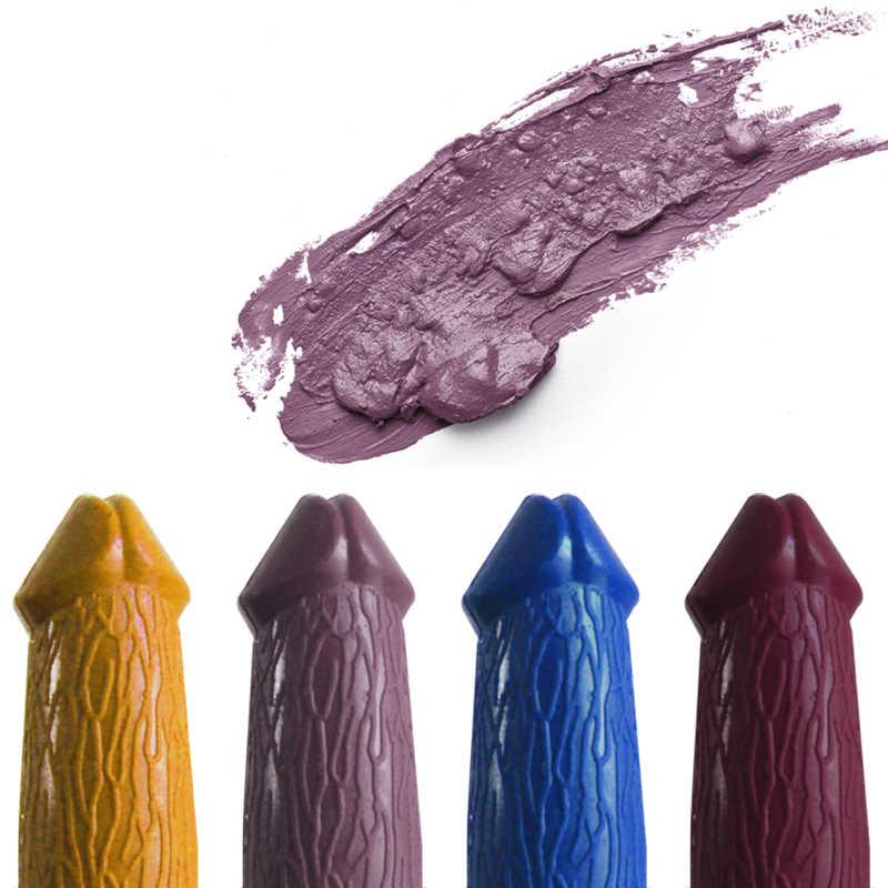 20 Colors Penis Shape Lips Makeup Lipstick Mushroom Long Lasting Moisture Cosmetic Lipstick red Lip matte lipstick waterproof