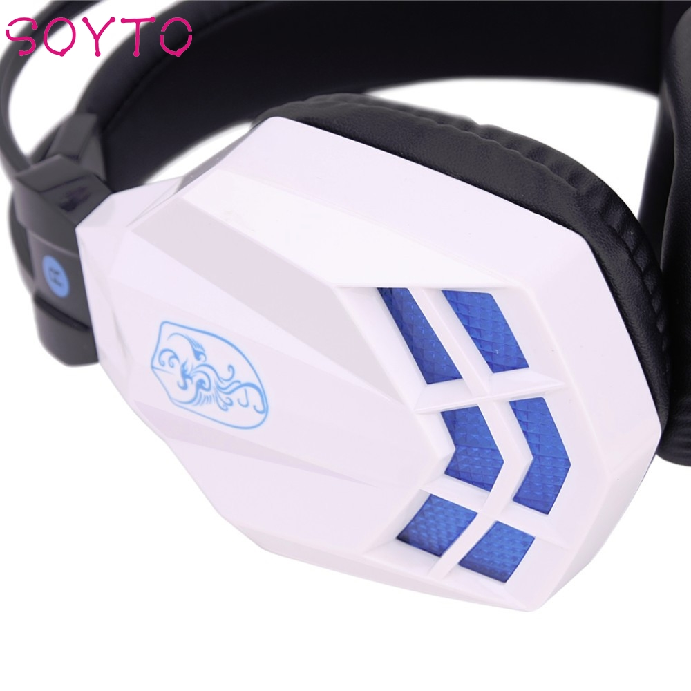 2017 New Soyto Hot USB 3.5mm Surround Stereo Gaming Headset Headband Headphone with Mic for PC Beautiful Gift Hot_KXL0622