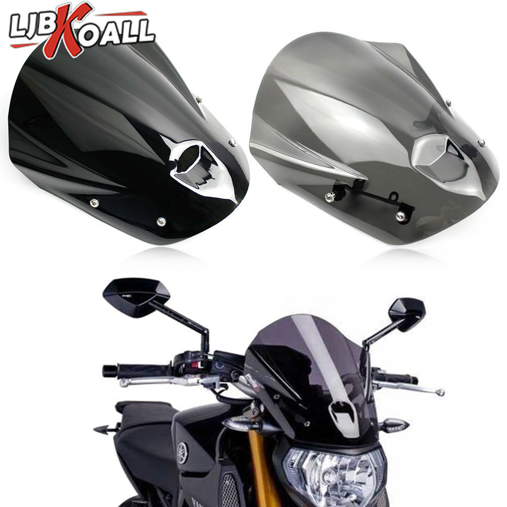 MT09 FZ09 ABS Motorcycle Windshield Windscreen with Mounting Bracket Screws for Yamaha MT-09 FZ-09 FZ MT 09 2013 2014 2015 2016MT09 FZ09 ABS Motorcycle Windshield Windscreen with Mounting Bracket Screws for Yamaha MT-09 FZ-09 FZ MT 09 2013 2014 2015 2016