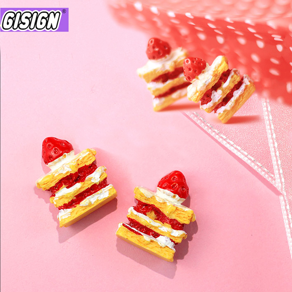 Strawberry Cake Supplement Charms For Slime DIY Polymer Filler Addition Slime Accessories Toy Lizun Modeling Clay Kit For Child