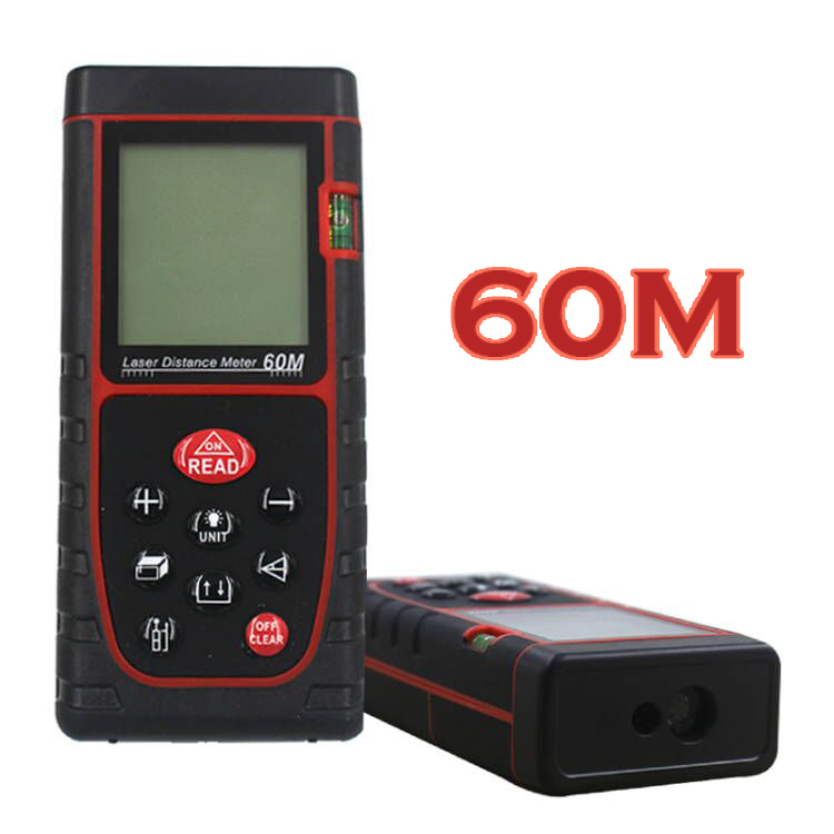 60M Digital Laser Distance Meter Rangefinder laser Tape range finder build Measure Area-volume-Angle device ruler test tool 80m handheld laser rangefinders digital laser distance meter infrared laser range finder tape ruler measure area volume tool