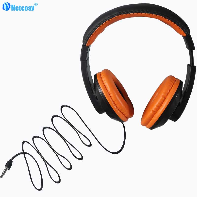 Netccosy Portable Over-Ear Headband Wired Earphone Gaming Headset Foldable Headphone For ...