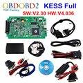 Melhor Qualidade KESS V2 OBD2 Gerente Sintonia Kit V2.30 HW V4.036 Versão Atualizada Do Mestre KESS V2 Sem Tokens Limitada Por Ligação DHL livre