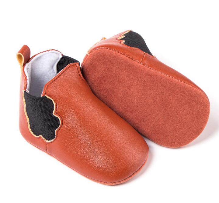 New soft soled Newborn baby boot pu leather first walker baby moccasins shoes nonslip fo ...