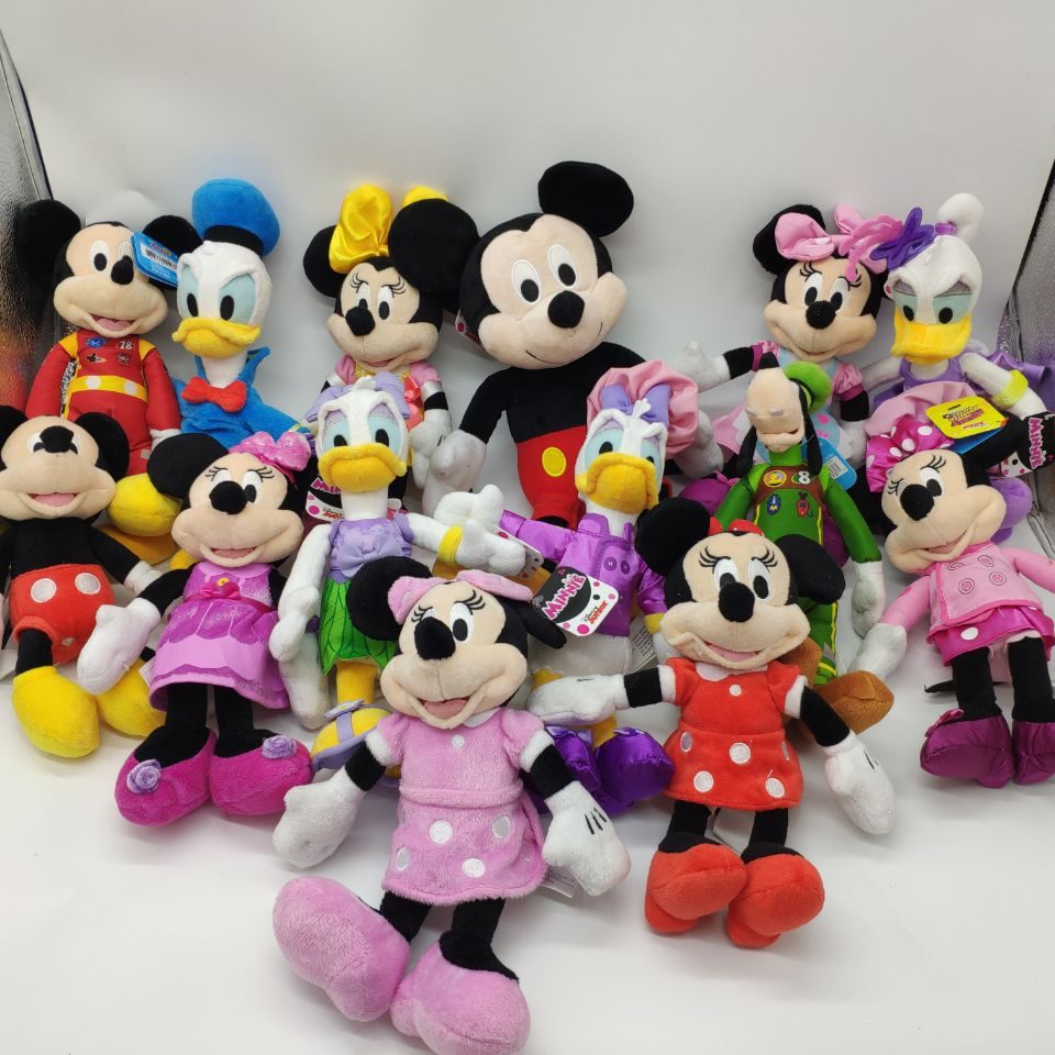 цена на MINNIE mouse mickey mouse pluto dog donald duck goofy dog 25CM plush Toys Stuffed Animals daisy baker soft toys kids toys