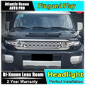Styling de carro Para Toyota Fj CRUISER faróis U angel eyes DRL 2008-14 para CRUISER Fj LED light bar DRL Q5 lente bi xenon h7 xenon